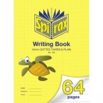 Spirax 163 Writing Book 335x240mm  64 page  24mm Dotted Thirds & Plain (Min order: 2)