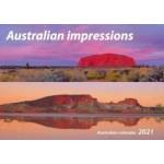 Australian Impressions 2021 Wall Calendar (Min Order Qty 5)