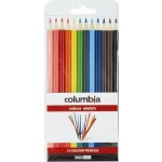Columbia Coloursketch Colour Pencils Round Wallet of 12 (Min Order Qty 2)