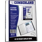 Cumberland Display Book Non Refillable A3 20 Pocket Black (Min Order Qty: 1)