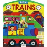 3D Board Book Busy Trains (Min Order Qty 2)