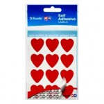 Quikstik Hangsell Red Hearts 22mm (Min Order Qty 5)