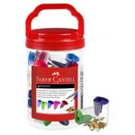 Faber Castell 1 Hole Sharpener with Catch - Tub of 40 (Min Order Qty 1)