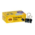 Marbig Fold Back Clips 19mm Box of 12 (Min Order Qty 5)