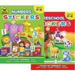 SCHOOL ZONE GET READY STICKER BOOKS - MIN BUY 12
