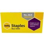 Marbig no. 56 26/6 Staples Box of 5000 (Min Order Qty 2)