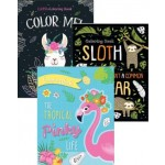 Foil Colouring Books Assorted Pack of 12 (Min Order Qty 1 Pack)