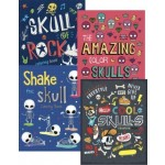 Foil Skulls Colouring Books Assorted Pack of 12 (Min Order Qty 1 Pack)