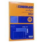 Cumberland Envelopes C4  Gold Pack 25 (Min Order Qty 1)