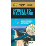 UBD/Gregorys Sydney to Melbourne Touring Map 345 #7 (Min Order Qty 2)