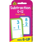 School Zone Flash Cards Subtraction 0-12 (Min Order Qty 2)