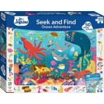 100 Piece Children's Junior Jigsaw Seek and Find Ocean Adventure (Min Order Qty 2)