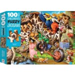 Children's Jigsaw Puzzles 100 Piece - Animal Mayhem