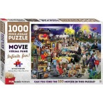 Puntastic Puzzles: Movies 1000-piece Puzzle (Min Order Qty 2)