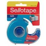Sellotape Gift Tape 18mm x 25m Dispenser (Min Order Qty 8)
