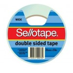 Sellotape Double Sided Wide Tape  24mm x 33m (Min Order Qty 6)