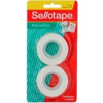 Sellotape Invisible 18mm x 25m Tape 2pk Refill (Min order Qty 8)