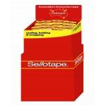 Sellotape Display  Sticky Tape 18x25mm Dump Bin of 72 (Min Order Qty 1) **Special Order Item**