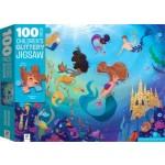 100-Piece Children's Jigsaw Glittery Mermaids (Min Order Qty 2)