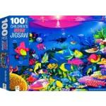 100 Piece Children's Jigsaw Puzzle Neon Reef (Min Order Qty 2)