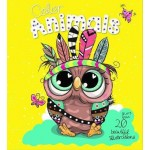 ***Coming July 2021***  Animal & Neon Glitter Colouring Owl