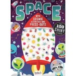 Metallic Puffy Stickers Space (Min Order Qty 2)