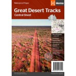 Hema Great Desert Tracks Central Sheet Waterproof Map #8 (Min. Order 1)