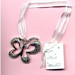 Bridal Charm Silver Butterfly (Min Order Qty 3)