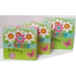 Gift Boxes Includes 3 Assorted Sizes Happy Birthday Design **Sold as 2 Sets** (Min Order Qty 2 Sets of 3)