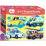 ***Coming September*** Junior Jigsaw Shaped 4-in-1: Emergency Vehicles (Min Ord Qty 2)