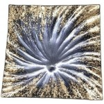 Glass Plate Dóro Dochia 25x25cm (Min Order Qty: Multiples of 2)
