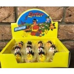 Easter Chickens & Roosters in Basket Display of 12 (Min Order Qty 1)