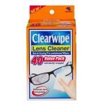 Clearwipe Lens Cleaner 40 Wipes Display of 6 (Min Order Qty 1 display)
