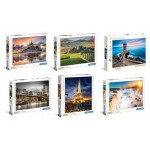 Clementoni Puzzles 1000 Piece Pack of 6 Assorted (Min Order Qty 1) ***Available Early September***