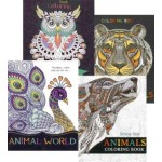 Adult Animal Colouring Assorted Pack of 12 (Min Order Qty 1 Pack)