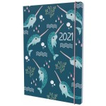 Collins 2021 Calendar Year Diary - Natura A6 Day to Page Narwhal (Min Order Qty 5) **Available August 2020** Special Order Item