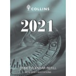 Collins 2021 Calendar Year Desk Calendar Refil - Top Hole Punch (Min Order Qty 5) **Available August 2020**