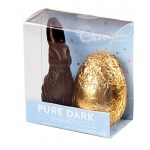 Chocolatier Pure Dark Bunny & Egg 90g (Min Order Qty 2)