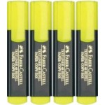 Faber Castell Textliners Wallet of 4 Yellow  (Min Order Qty 2)
