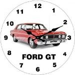 Ford GT 17cm Glass Clock (Min Order Qty 3)