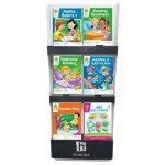 School Zone 3 Tier Black Display Stand Offer Assorted Work Books (Min Order Qty 1)