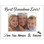 """""""Best Grandma Ever"""" - Mirrored Photo Frame (Min Order Qty: Multiples of 4)"""