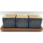 Stella Pot Set of 3 on Tray 27x10cm (Min Order Qty: Multiples of 2)