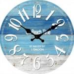 Beach Glass Clock 30cm (Min Order Qty 1)