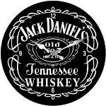 Jack Daniels 17cm Glass Clock (Min Order Qty 3)