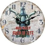 Ned Kelly Such is Life 17cm Glass Clock (Min Order Qty 3)