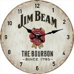 Jim Beam 17cm Glass Clock (Min Order Qty 3)