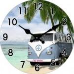 Combi Glass Clock 17cm (Min Order Qty 1)