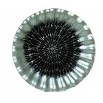 Hand Painted Glass Plate Black & Silver Swirl 29x29cm (Min Order Qty 2)