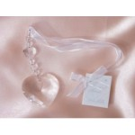 Bridal Charm Clear Heart Bead (Min Order Qty 3)